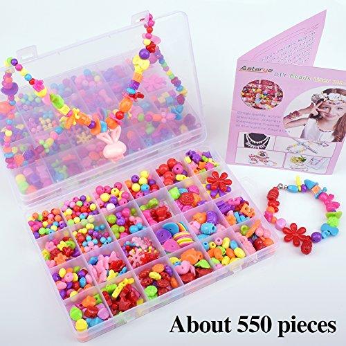 550Pcs Pop Snap Perlen Astarye Kinder DIY-Baukasten blockiert Schmuck Accessoires für Kinder Intelligenz Bildung Geschenke