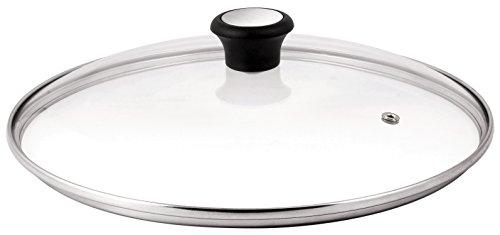 Tefal 280975 Tefal 280975 GLASDECKEL mit Edelstahlrand und Dampfregler 24cm, Transparent