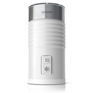 Arendo – Milchaufschäumer automatisch | milk frother | Neues Modell 2017 / STRIX Controller | 2-Tasten für Warm- und Kaltaufschäumen | Überhitzungsschutz durch automatische Abschaltfunktion | 365-435W | antihaftbeschichtet | 360° Basisstation | weiß