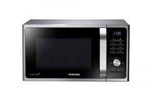 Samsung MS28F303TAS/EG Mikrowelle / 1000 W / 28 L Garraum / 16 Vitalprogramme / Silber / Eco Modus / Keramik-Emaille-Innenraum