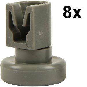 Spülmaschine Oberkorbrollen | Inhalt: 8 Stück | geeignet für AEG Favorit, Privileg, Zanussi, uvm. | von McFilter