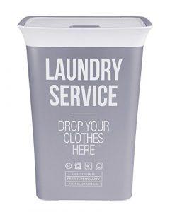 Ondis24 Wäschetruhe Wäschekorb Wäschepuff mit Belüftung Moda Service 60 Liter mit Deckel Wäschesammler