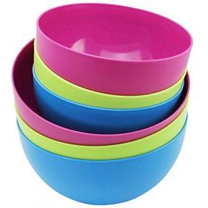 COM-FOUR® 6-teiliges Schüsselset in frischen Farben, bis zu 2,4 Liter und 3,8 Liter (6 Stück – Mix)