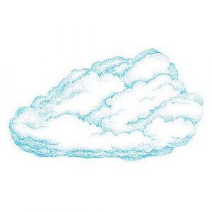 Wandaufkleber Wallies-Motiv-Sticker (Cutouts) Wolken