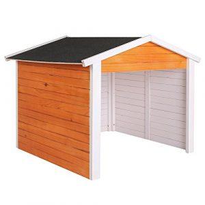 Garage für Mähroboter aus Holz Rasenrobotergarage Gartenhaus Carport Station