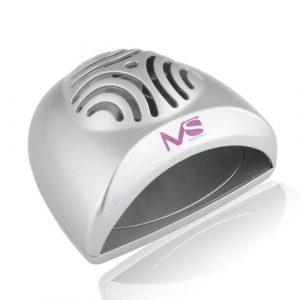 MelodySusie tragbare Mini Größe Handlich Nagel-Trockner / Mini-Ventilator Lichthärtungsgerät zur Trocknung von Nagellack & Acrylnagel Silber