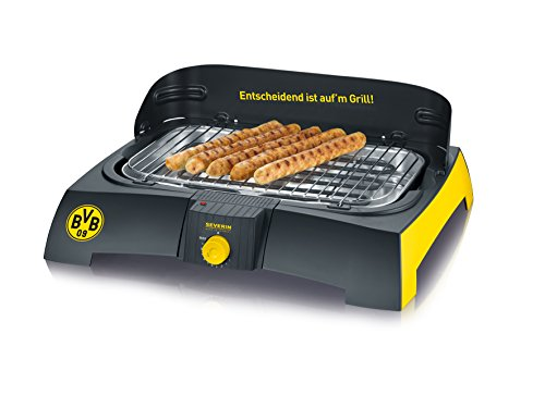 Severin PG 9739 Barbecue-Grill, BVB schwarz / gelb