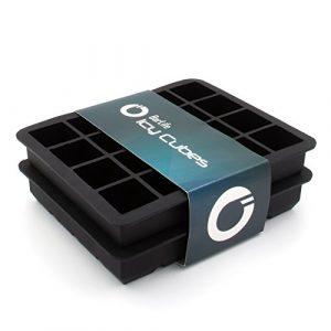 """BarLife """"Icy Cubes"""" – 2er Set Eiswürfelform aus Silikon zum Erstellen perfekter Eiswürfel um ihre Getränke zu kühlen"""
