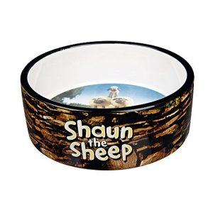 Trixie 25047 Shaun the Sheep Keramiknapf Shauns Herde, braun