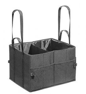 Wedo 582521 Kofferraumtasche Big Box Shopper (Größe L, aus Polyester, 45 x 35 x 30 cm, Innen- und Außentaschen, Klettverschluss, zusammenfaltbar, mind. 25 kg Traglast) schwarz