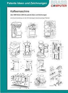 Kaffeemaschine, über 5050 Seiten (DIN A4) patente Ideen und Zeichnungen