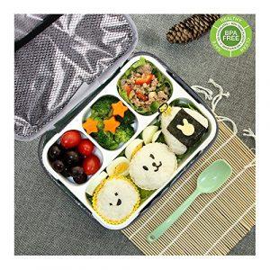 Bento Box Set, BPA Frei Lunch Box mit Mittagessen Tasche Kinder & Erwachse Lunchboxen, Brotdose mit 4 Unterteilungen