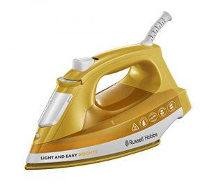 Russell Hobbs 24800-56 Light & Easy Mango Dampfbügeleisen, Keramik-Bügelsohle, Extra-Dampfstoß, 2400 W, mango