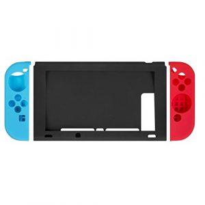 Switch TPU Hülle, Nintendo Switch Joy-Con Gel Schutzhülle Abdeckung, Blau/Rote/Schwarz