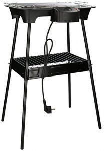 Eurosell 2000W Elektro Tischgrill + Ständer Tisch Grillplatte Grill – auch für innen geeignet