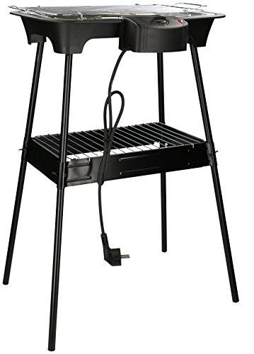 Eurosell 2000W Elektro Tischgrill + Ständer Tisch Grillplatte Grill - auch für innen geeignet