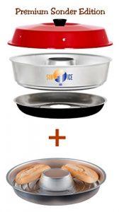 Sun and Ice Omnia Spar-Set Backofen Premium Edition plus Aufbackgitter, Minofen, Camping