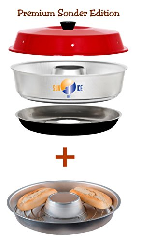 Sun and Ice Omnia Spar-Set Backofen Premium Edition plus Aufbackgitter, Minofen, Camping
