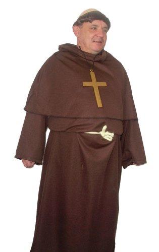 Fritteuse Tuck Funny Design Buckfast Gewand Kostüm Mönch Perücke