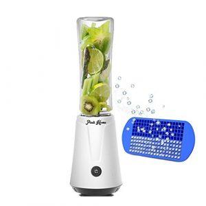 Padi Home Mixer,Mini Blender,Smoothie Mini Standmixer,Tragbare Mixer,Smoothie Maker,Milchshake Blender *Edelstahl Mixer+Filter+Eiswürfelschale+Reinigungsbürste* 300 Watt,500 ml,22.000 U/min,Weiß