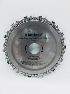Kettensägeblatt 125 x 22 mm für Winkelschleifer – Kettensäge – Flex – Holzbearbeitung
