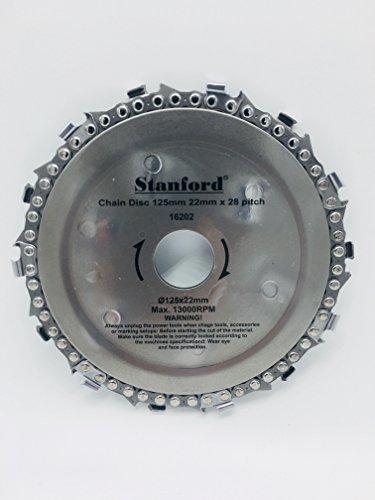 Kettensägeblatt 125 x 22 mm für Winkelschleifer - Kettensäge - Flex - Holzbearbeitung