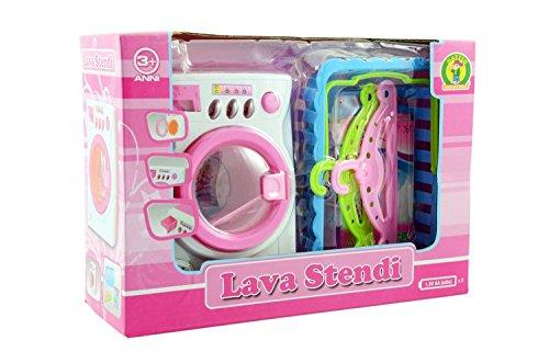 Lena - Waschküche 51025001. Waschmaschine, Kleiderbügel und Korb.