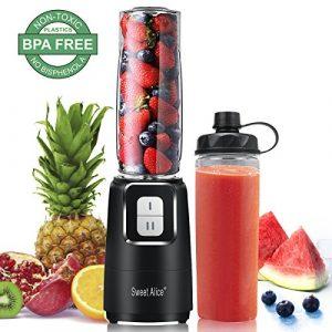 Standmixer,Sweet Alice Smoothie Maker mit BPA Frei 600ML Trinkflasche,350 Watt Mixer,24.000 U/min,Ideal für Smoothies,Früchte,Babynahrung und Shakes,Premium-Matt-Finish