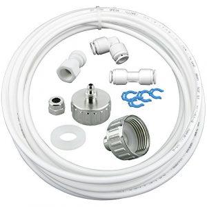 10m Wasserzulaufleitung Universal Anschluss-Set für Kühlschrank Side by Side. Kühlschrankschlauch, Wasserschlauch 6,4mm(1/4″)