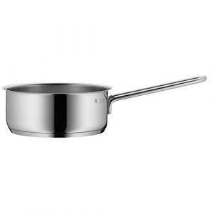 WMF Mini Stielkasserolle, ohne Deckel, Ø 14 cm, Cromargan Edelstahl poliert, Schüttrand Induktion, spülmaschinengeeignet, stapelbar, 0,9l