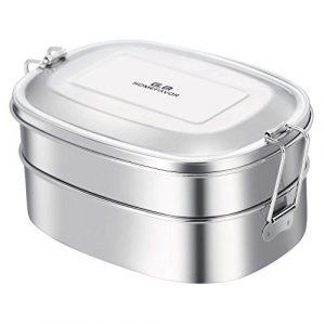 G.a HOMEFAVOR Edelstahl Brotdose 2-in-1 Lunchbox Kinder Metall Umweltfreundliche Dose