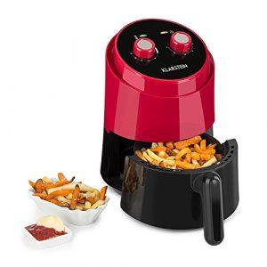 Klarstein Well Air Fry • Heißluftfritteuse • Fritteuse • fett-frei Frittieren • Backen • Grillen • Rösten • 1230 Watt • 1,5L Füllkapazität • Überhitzungsschutz • analoges Bedienfeld • Kontrollleuchten • rot