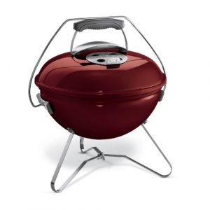 Weber 1124004 Smokey Joe Premium Holzkohlegrill, Brick Red 37 cm