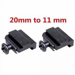 ILS – 2 pieces 20mm to 11mm Adapter Base Coverter Mount For Weaver Dovetail Rail