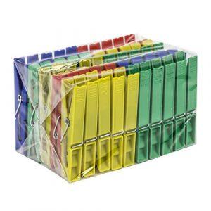 Spontex 97024102 50 Wäscheklammern Wäsche Klammer Kunststoff Bunt, Vielfarbig, 10x13x7 cm
