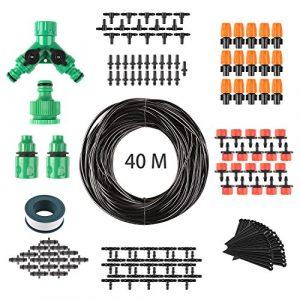 FIXKIT 40M Automatik Micro Drip Bewässerung Kit, Bewässerungssystem, geeignet für Gartenbewässerung und DIY, mit automatischem Sprinkler