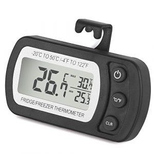 Digitales Kühlschrankthermometer wasserabweisend Gefrierschrankthermometer für Gefrierschrank, Kühlschrank, Tiefkühltruhe, Weinkühlschrank, Minibar usw.