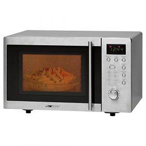 Clatronic MWG 778 U Unterbau-Mikrowelle mit Grill/20 Liter/8 Automatikprogramme/95-Minuten-Timer mit Endsignal/Digitaluhr/Unterbaufähig