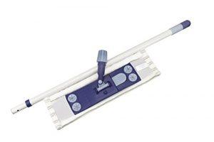 3er Wischer Set für Bodenreinigung | mit stabilem Magnet-Klapphalter, Wischbezug und praktischem Teleskopstiel | Mopp-Klapphalter auch für einfaches Bodentuch