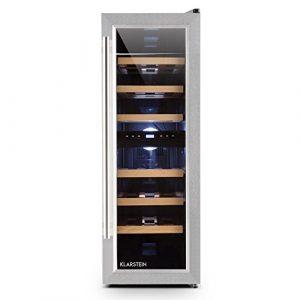 Klarstein Reserva Duett 12 • Weinkühlschrank • Getränkekühlschrank • Weinklimaschrank • Platz für 21 Normflaschen • 2 Programmierbare Kühlzonen • LED-Innenraumbeleuchtung • 6 Regaleinschübe • silber