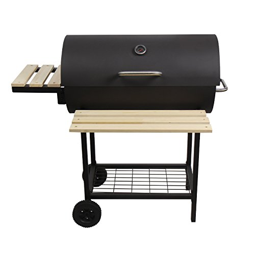 CCLIFE Holzkohlegrill Grillwagen Holzkohle Barbecue BBQ Smoker Grill Gartengrill Grillkamin 98X67X96 cm