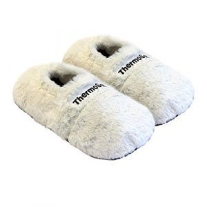 Thermo Sox aufheizbare Hausschuhe für Mikrowelle und Ofen – Mikrowellenhausschuhe Wärmepantoffeln Wärmehausschuhe Wärmeschuhe Fußwärmer Supersoft, Größe:36/40 EU, Farbe:Creme