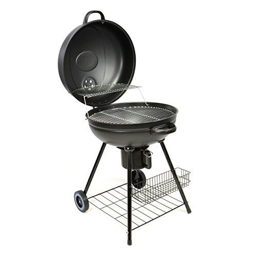 Nexos Großer Kugelgrill Holzkohlegrill, hochwertige Ausführung, massive 12 kg schwer, 53cm Grillfläche für BBQ Grill Barbecue Grillwagen