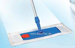 BawiTec Profi Hygiene-Bodenwischer 40cm 50cm mit Aluminiumstiel 140cm Microfaser (Breite 50cm)