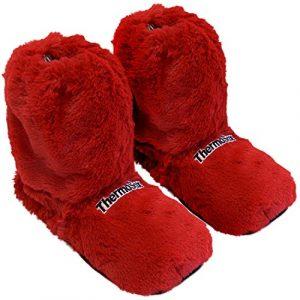 Thermo Sox Original Supersoft Hoch Hausschuhe für Ofen & Mikrowelle, Farbe:Rot, Schuhgröße:36/40 EU