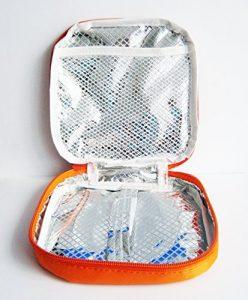 ISOLIERTASCHE 17x17cm Kühltasche Sandwich Brotdose Lunchbox Therma Bag Tasche 46 (Orange)