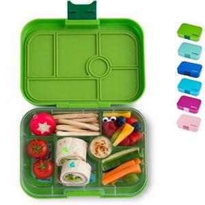Yumbox Original M Bento Box – mittelgroß, mit 6 Fächern | Lunchbox mit Trennwänden | Kindergarten, Schulanfang, Erwachsene (Avocado Green)