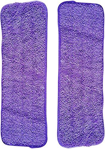 Vorfreude Spray Mop Mikrofaser Pads 2 Stück Lebenszeit Ersatz 1000x Waschbar Wiederverwendbar, 25cm*40cm Tücher für die Reinigung von trockenem Oder nassem Untergrund gewährleistet (2 Insgesamt)