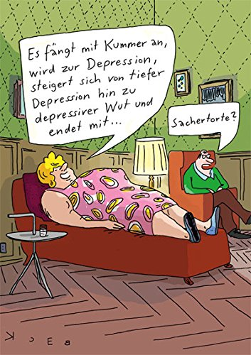 Postkarte A6 • 4971 ''Sachertorte'' von Inkognito • Künstler: Beck • Satire • Cartoons