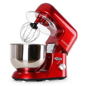 PREIS/LEISTUNGSSIEGER* Klarstein Bella Rossa • Küchenmaschine • Rührmaschine • Knetmaschine • 1200W • 1,6 PS • 5,2L • planetarisches Rührsystem • 6-stufige Geschwindigkeit • Edelstahlschüssel • rot